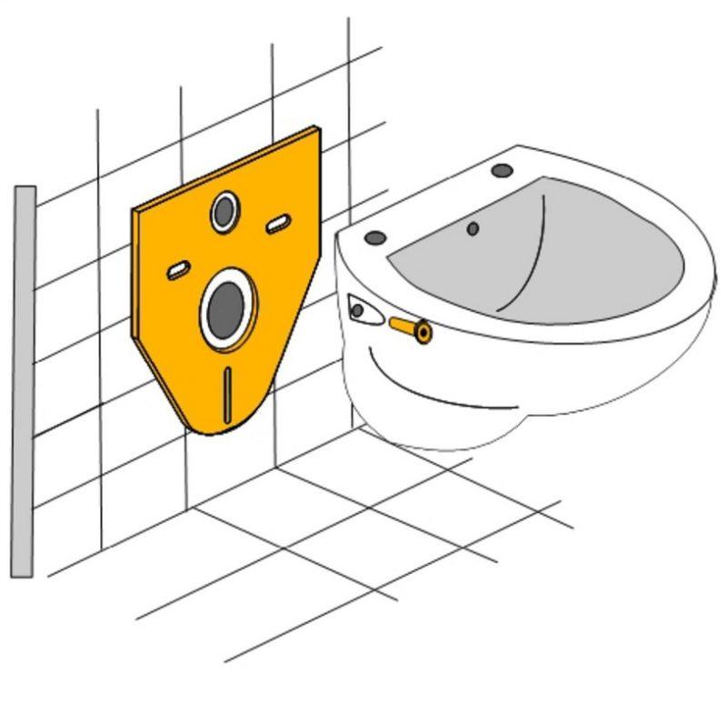 Schallschutz-Set für Wand-WC oder Bidet inkl. Montagezubehör-2569