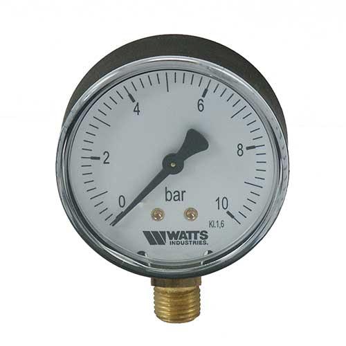 Rohrfeder Manometer, Anschluss von unten, Gehäusedurchmesser 80mm-0