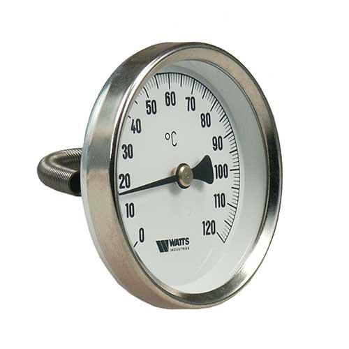 Bimetall Anlegethermometer 0-120°-0