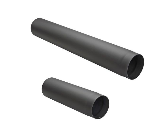 Rauchrohr / Abgasrohr 150und 180mm Durchmesser schwarz pulverbeschichtet-0