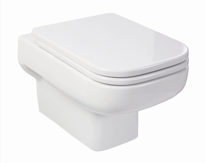 Design Wand WC- Set inkl.WC-Sitz mit Absenkautomatik inkl.Aktiv-Clean-Nano-Glasur-0