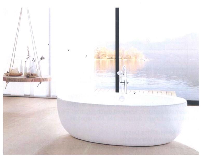 Freistehende Badewanne aus Sanitäracryl Größe 1860x890mm Farbe weiss-0