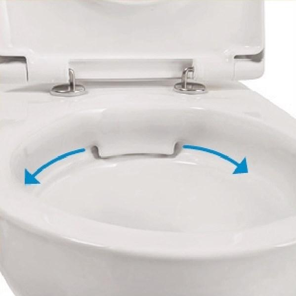 Spülrandloses Design Wand WC- Set inkl.WC-Sitz mit Absenkautomatik-1838