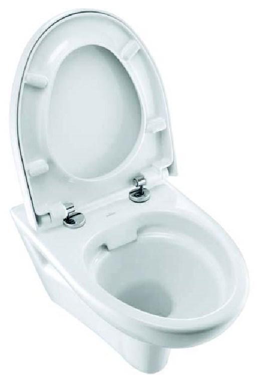 Spülrandloses Design Wand WC- Set inkl.WC-Sitz mit Absenkautomatik-1839