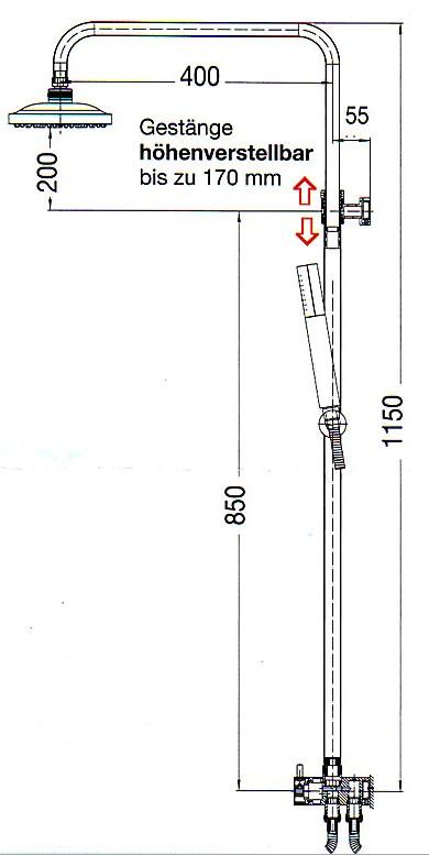 Duschsystem Twin mit Kopf- und Handbrause-1833