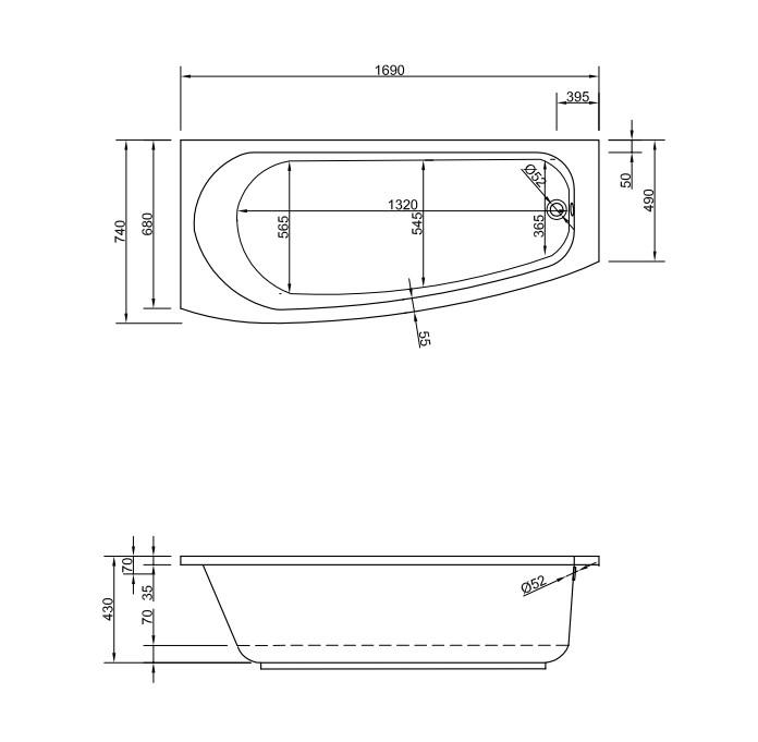 Chr. Schröder Raumsparbadewanne Compact-2319