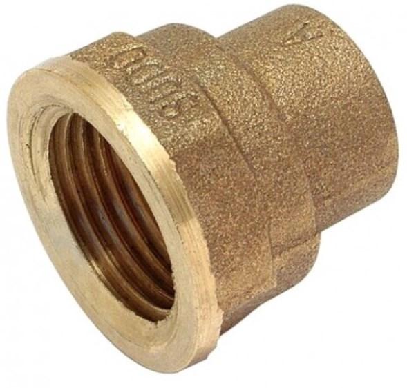 Kupfer-Lötfitting Übergangsmuffe 4270g mit IG, aus Rotguss, verschiedene Größen bis 54mm-0