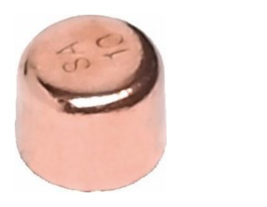 Kupfer-Lötfitting 5301 Kappe verschiedene Größen-2390