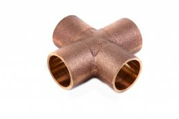 Kupfer-Lötfitting 4180 Kreuzstück aus Rotguss, 15 bis 22mm-0
