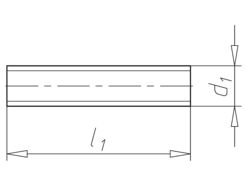 Gewindestange Stahl verzinkt, mit metrischem ISO-Regelgewinde, DIN 976-1 (Form A)-2640