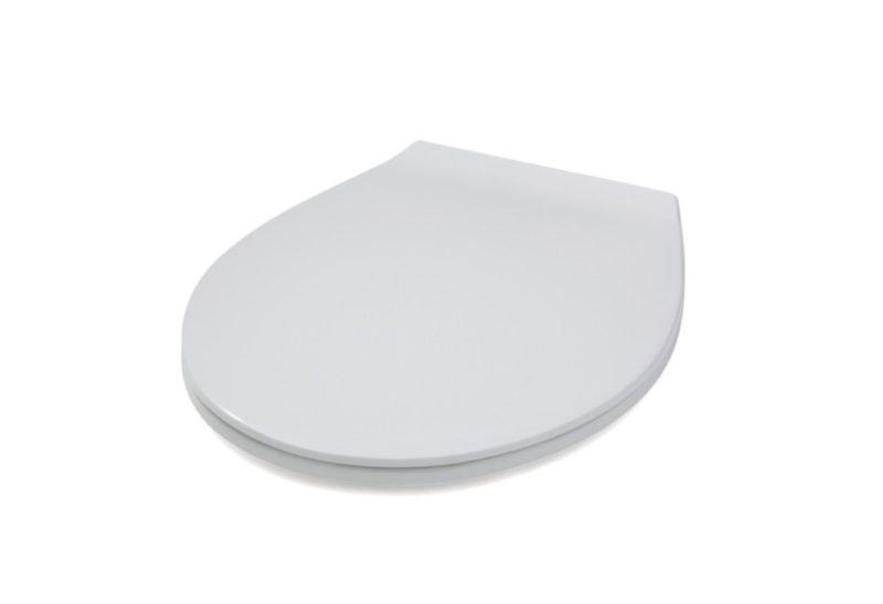 WC-Sitz weiß aus Duroplast mit Edelstahlscharnier für genormte Wand- und Stand-WC-2636