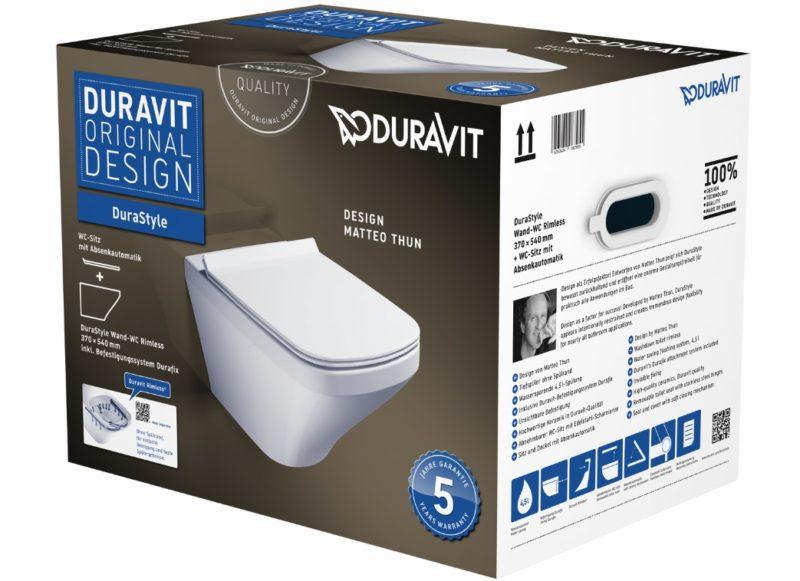 DURAVIT DuraStyle WAND-WC Design Matteo Thun RIMLESS SET (Spülrandlos)-0