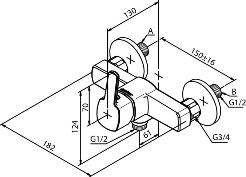 Einhand-Brausearmatur damixa PINE-2891