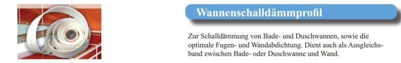 Wannenschalldämmprofil WSDP-2939