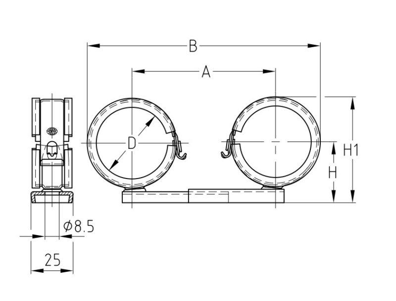VARIO-Doppelrohrschellen verzinkt von MÜPRO 10-15mm-2969