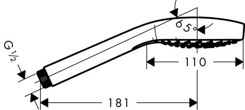 Hansgrohe Handbrause Croma Select E Vario -2997