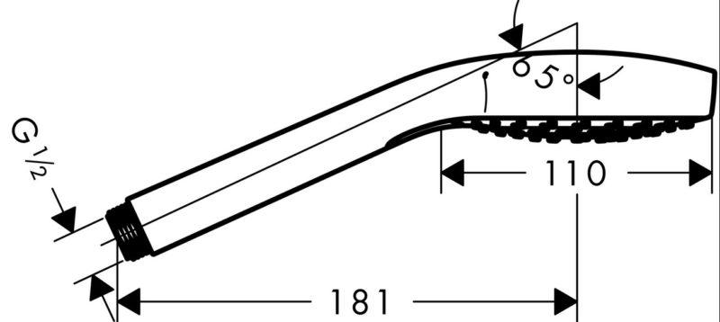 Hansgrohe Handbrause Croma Select S Vario -2987